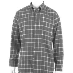NWT $35 Mens JOHN ASHFORD Sz M Button Down Shirt Brand New With Tags!   RETAIL: $34.50   Mens JOHN ASHFORD Button Down Shirt      SIZE: M      COLOR: Onyx (Dark Grey w/white interlocking stripes)    PATTERN: Window Pane design     FABRIC: Flannel    MATERIAL: 100% Cotton FEATURES: Button Front Closure / Long Sleeves / Placket Front / Rounded Hem / Adj Button Barrel Cuffs / Button Down Collar / Chest Pocket / Machine Wash / LAST ONE LEFT IN THIS SIZE 💞 VARIOUS SIZES & COLORS AVAILABLE!💞…