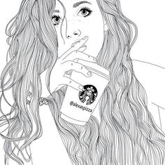 gambar starbucks, outline, and drawing                                                                                                                                                                                 More