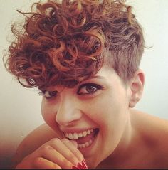 Short Hairstyle with Curly Hair