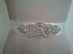 Wedding Belt Bridal Belt Sash Belt Crystal by LucyBridalBoutique, $35.00