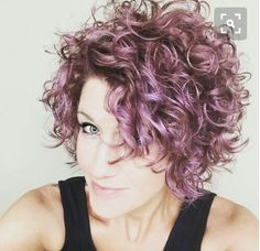 Short curly style - love the cut!
