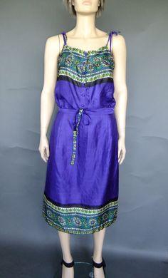 2 piece set, silk dress set, 60s dress, 60s vintage, purple ethnic dress, boho, hippie by vintage2049 on Etsy