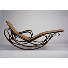 Gebruder Thonet art nouveau rocking chaise. (collection of the St Louis Art Museum)