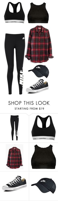 """Dancing"" by ifrancesconi on Polyvore featuring NIKE, Calvin Klein, Madewell, Sans Souci and Converse"