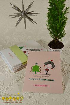Yoga Christmas Cards, set of 4! www.etsy.com/shop/idocaredesigns