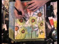 art journal page 20-01 - YouTube