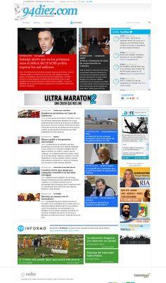 94diez.com Portal de Noticias Diseño y desarrollo 2.0 Sistema administrable y múltiples módulos. web: www.94diez.com