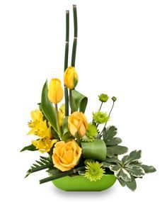 Uplifting Lime & Sunshine Floral Design in Westwego, LA Contemporary Flower Arrangements, White Flower Arrangements, Ikebana Flower Arrangement, Vase Arrangements, Flower Centerpieces, Flower Decorations, Altar Flowers, Church Flowers, Deco Floral