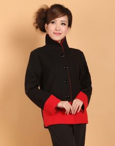 Chinese Style Cost/ Jacket - Modern Chinese Style Clothing: Peont Light Coat $76.99 (58,00 €)