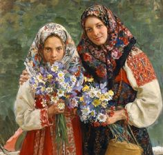 """IVAN KULIKOV 1874-1941 """"Meadow flowers """" 1907"""