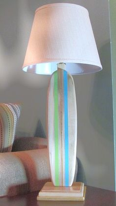 Children's, Kids and Nursery Surfboard Lamp Custom Colors Available