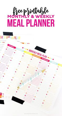 30 Family Meal Planning Templates  {weekly, monthly, budget}