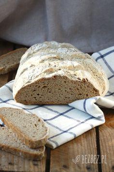 Bezglutenowy chleb bez foremki (wegański) 200 Calories, 20 Min, Gluten Free, Recipes, Breads, Brot, Glutenfree, Recipies, Sin Gluten