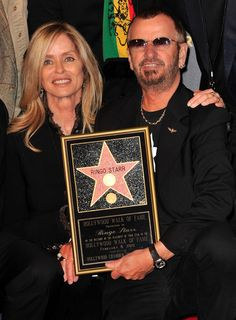 Actress Barbara Bach and husband musician Ringo Starr attend the 2401st Hollywood Walk of Fame Star ceremony honoring musician Ringo Starr on February 8, 2010 in Hollywood, California.
