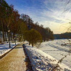 #sun #day #sunlight #blue #bluesky #white #snow #road to #beautyful #winter #wonderful #mood #tree ❄️⛄️⛷⛸