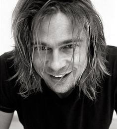Brad Pitt by Andy Gotts. Remember when his hair was this long?!? #bradpitt #celebrities #celebrity