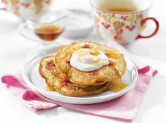 Whole Grain Lemon and Raspberry Pancakes. Is it brunch day yet?