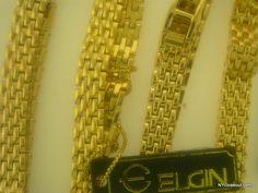 Lot Of 25 ELGIN Gold Tone Unisex Bracelets Free Shipping