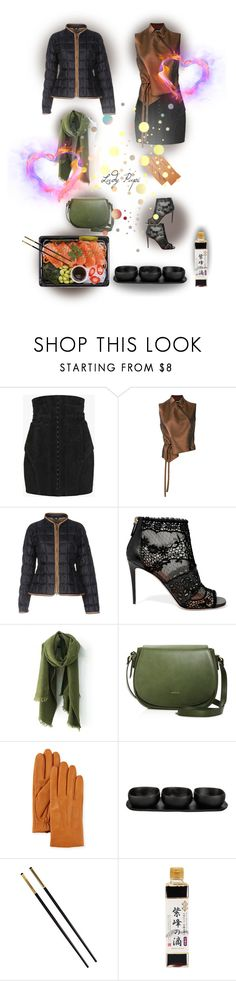 """""""Date Night Puffer Jacket"""" by papillon-ze-cat ❤ liked on Polyvore featuring Balmain, Ann Demeulemeester, FAY, Valentino, Angela Roi, Neiman Marcus, Tina Frey Designs and Versace"""