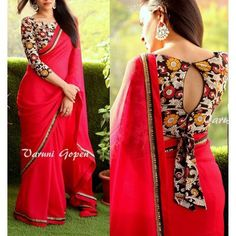 Best Kalamkari Blouse Designs Collections 2018 Are you looking for Kalamkari Blouse designs for your saree?Here is the collection of kalamkari blouse designs for cotton saree,Kerala saree and Kalamkari Blouse Designs, New Saree Blouse Designs, Fancy Blouse Designs, Saree Blouse Patterns, Kalamkari Saree, Blouse Back Neck Designs, Boat Neck Designs Blouses, Blouse Styles, Kalamkari Blouses