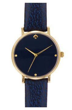 kate spade new york 'metro' leather strap watch