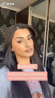 Hair Tips Video, Hair Videos, Curly Hair Tips, Curly Hair Styles, Cute Hairstyles, Straight Hairstyles, Blowout Hair, Aesthetic Hair, Hair Highlights