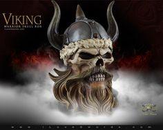 Viking Warrior Skull Box 8273 by Pacific Giftware