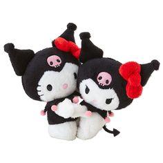 Hello Kitty x Kuromi Plush Doll Set 40th Anniversary SANRIO JAPAN