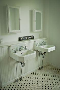 love the double, old school sinks