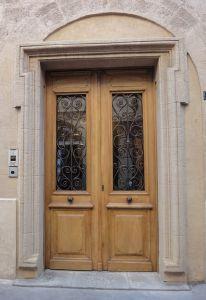 Portes anciennes porte d 39 entr e vitr e portes anciennes for Porte entree double vantaux