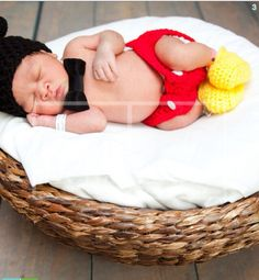 Baby Boy Mickey Mouse Crochet Outfit Newborn by ChildishDreams