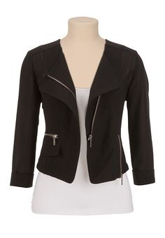 Moto Zip Blazer available at How To Wear Blazers, Moto Jacket, What To Wear, Makeup Looks, Cute Outfits, Fashion Outfits, My Style, 27th Birthday, Birthday Wishlist