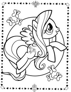 my little pony colorpage