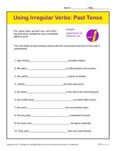 Past Tense Worksheets Printable