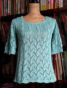 Ravelry: Shell Lace Pullover pattern by Avelina Carmona