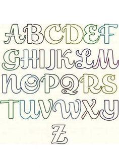 Stencil Lettering, Lettering Tutorial, Graffiti Lettering Fonts, Hand Lettering Alphabet, Calligraphy Alphabet, Lettering Styles, Calligraphy Fonts, Alphabet Letters, Alphabet Templates