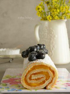 Rollo de limón. Lemon Roll Cake