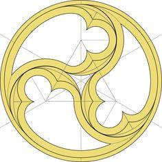 Gotischer Dreischneuß (Dreifache Fischblase)