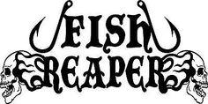 Fish Reaper Skull Fishing Hooks Decal