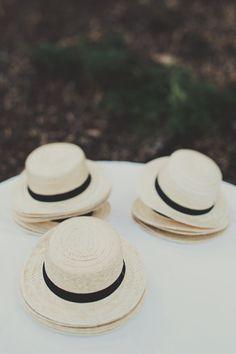 Fedora hats at the door
