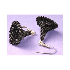 Beaded Witches Hat Earrings Pattern | Bead-Patterns.com