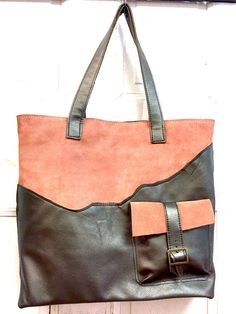 Leather tote bag / Leather Tote Handmade/ Metallic Leather Bag