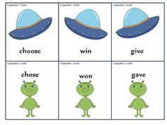 Free! Spacey Past Tense Verbs...156 cards