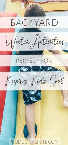 Our outdoor water activities for kids will keep them cool and entertained this summer. Ideas for backyard water fun from toddlers to tweens to nonswimmers. Water Activities Kids, Summer Activities For Kids, Indoor Activities, Infant Activities, Water Games, Indoor Games, Backyard Water Fun, Backyard For Kids, Backyard Play
