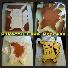 """drunkenjabberwocky: """"The Pikachu Cake I made for my friend's 22nd birthday a couple of weeks ago. Finally remembered to post the pictures thankfully because watching toonami made me think of..."""