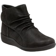 154376a4c9b77 Feel Light On Your Feet In These Clarks Cloud Steppers Ankle Boots. Slip  Into Lightweight