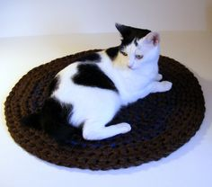 Double Thick Crochet Area Rug or Pet Bed by CottageCoveCrochet, $36.00
