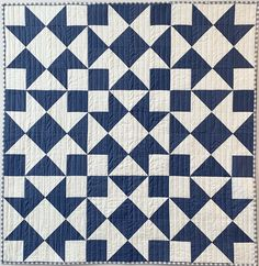 Helios Quilt pattern by The Athena Workshop Half Square Triangle Quilts Pattern, Quilt Square Patterns, Patchwork Quilt Patterns, Modern Quilt Patterns, Quilt Block Patterns, Square Quilt, Quilt Blocks, Two Color Quilts, Blue Quilts