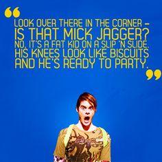 His knees look like biscuits!!!! hilarious!