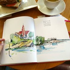 Luoto island, Helsinki, Finland . Остров Luoto, Хельсинки . #leuchtturm1917 #helsinki_in_sketches #helsinki #travelbook #travel #trip #sketchbook #winsorandnewton #lamy #pen #micronpigma